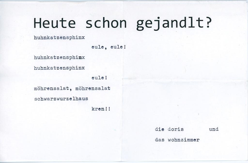 Be Creative #23a - Bonus Edition Ernst Jandl on my old typewriter