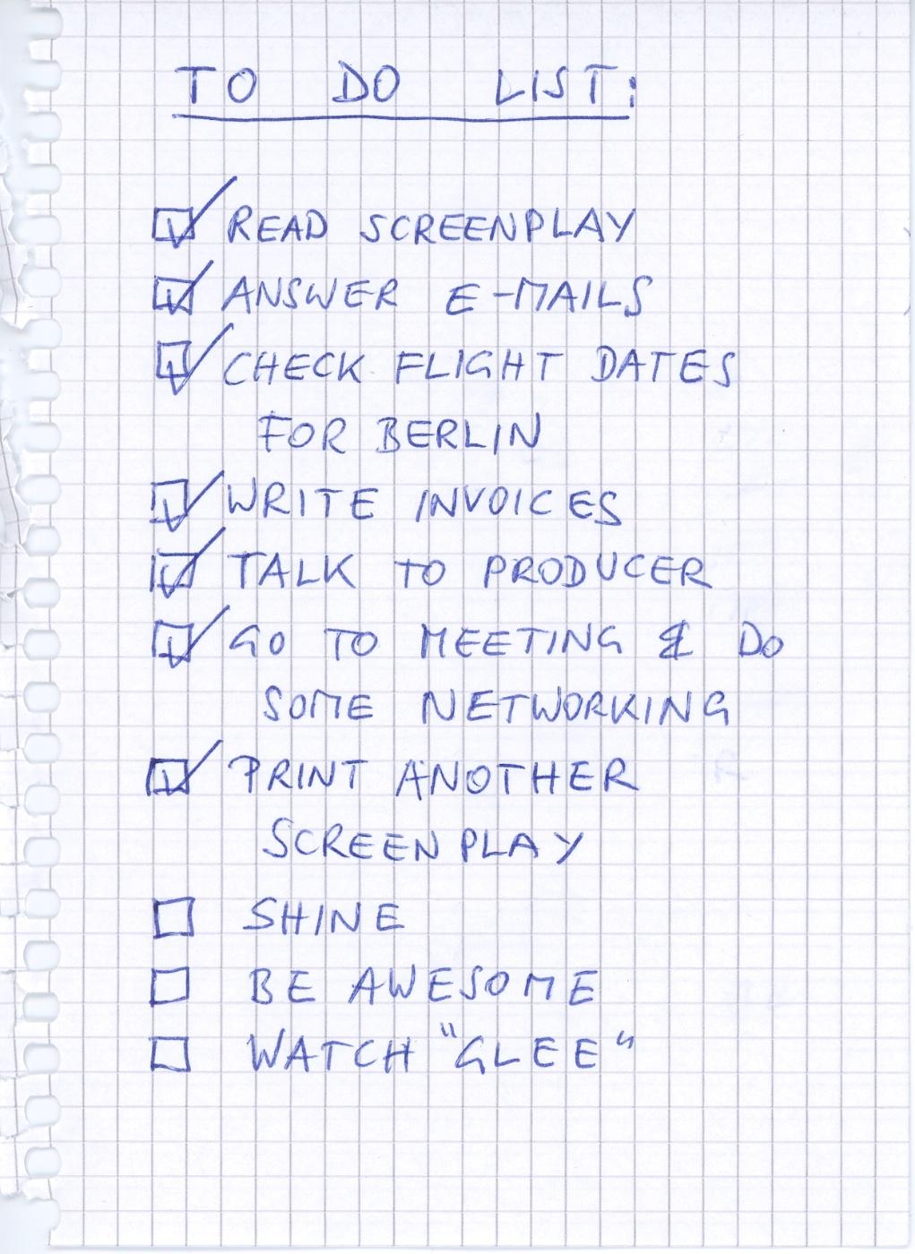 Be Creative #38 - To Do List, © Ines Häufler, 2011