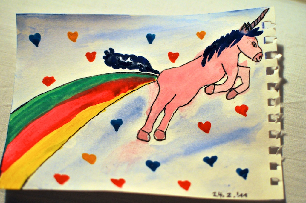 Be Creative #55 - The Happy Unicorn, © Ines Häufler, 2011