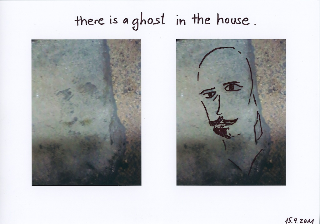 Be Creative #105 - There is a ghost in the house, © Ines Häufler, 2011