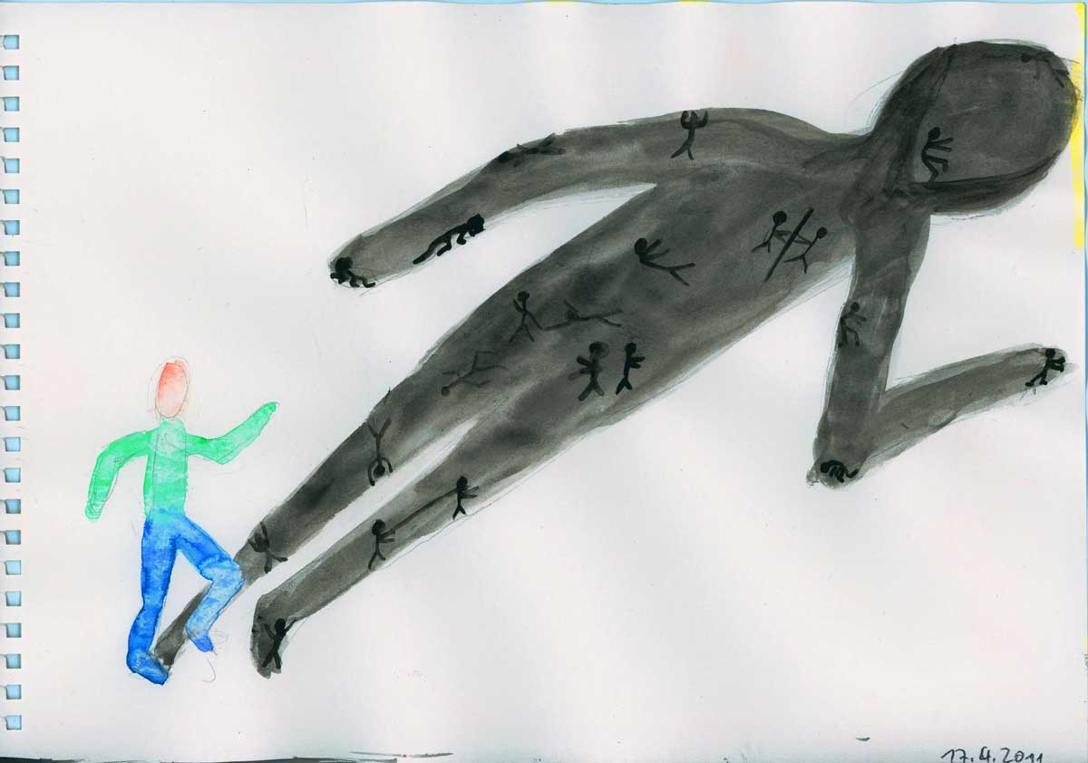 Be Creative #107, confronting the own shadows, © Ines Häufler, 2011