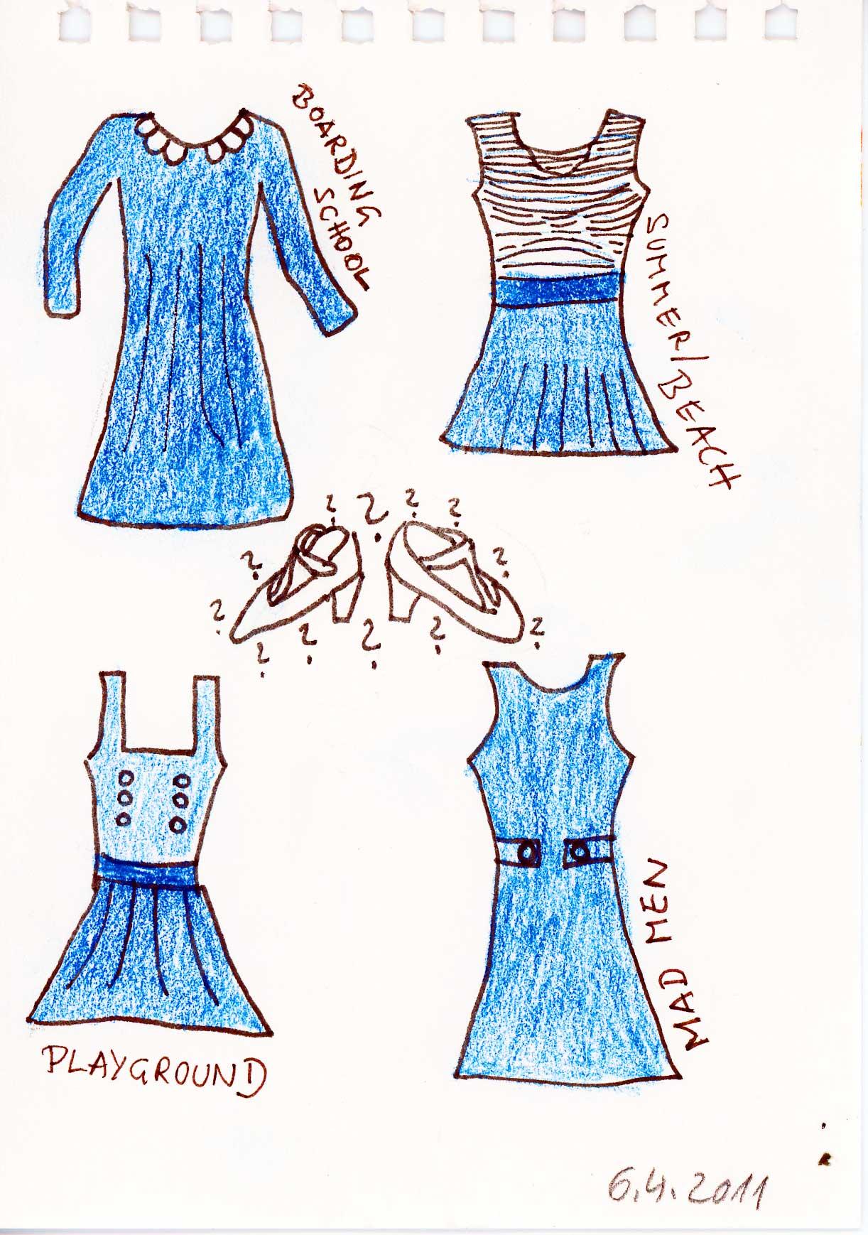 Be Creative #96 - Blue dresses, © Ines Häufler, 2011