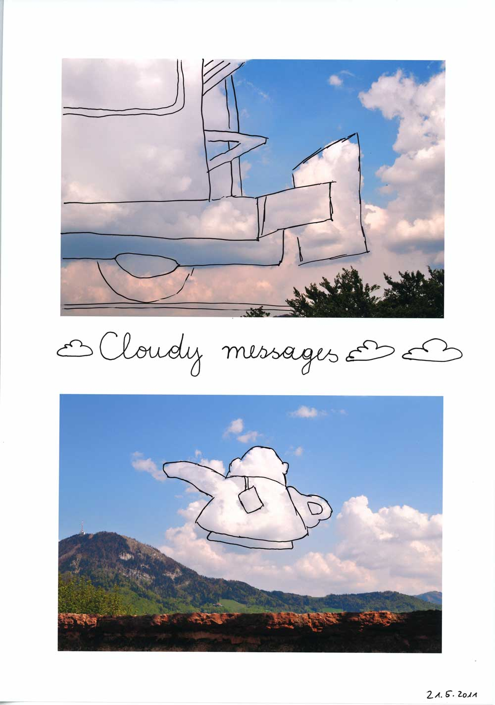 Be Creative #141 - Cloudy messages, © Ines Häufler, 2011