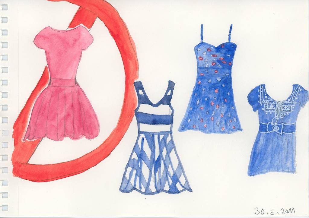 Be Creative #150 - A legion of blue dresses, © Ines Häufler, 2011
