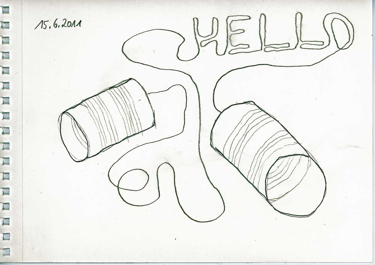 Be Creative #166 - Tin phone engineering, © Ines Häufler, 2011