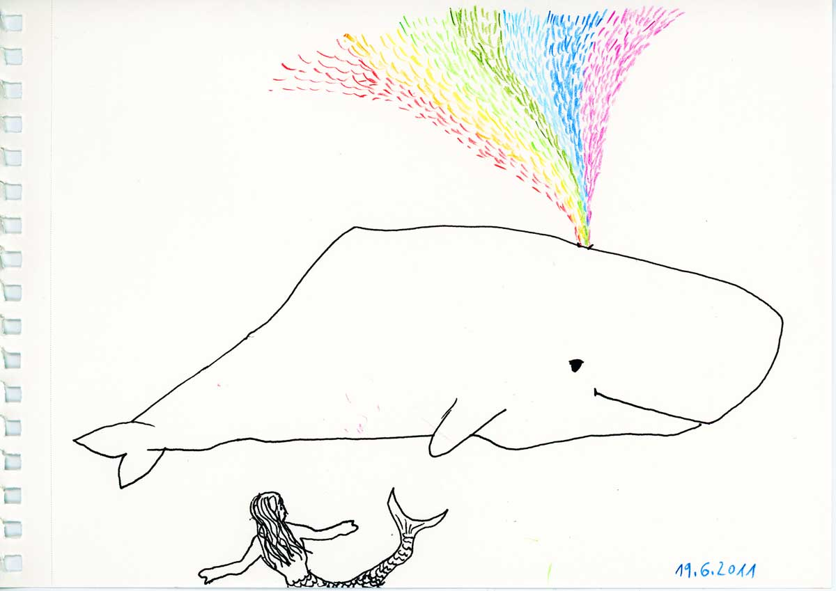 Be Creative #170 - The Rainbowwhale, © Ines Häufler, 2011