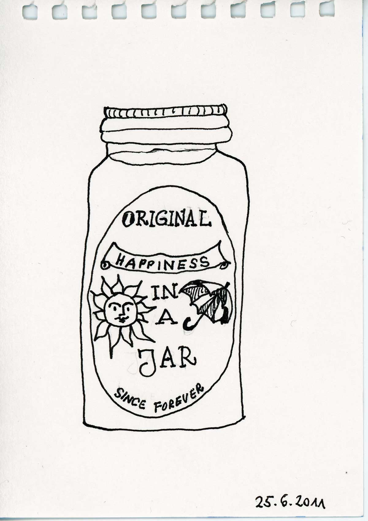 Be Creative #174 - A jar of happiness, © Ines Häufler, 2011