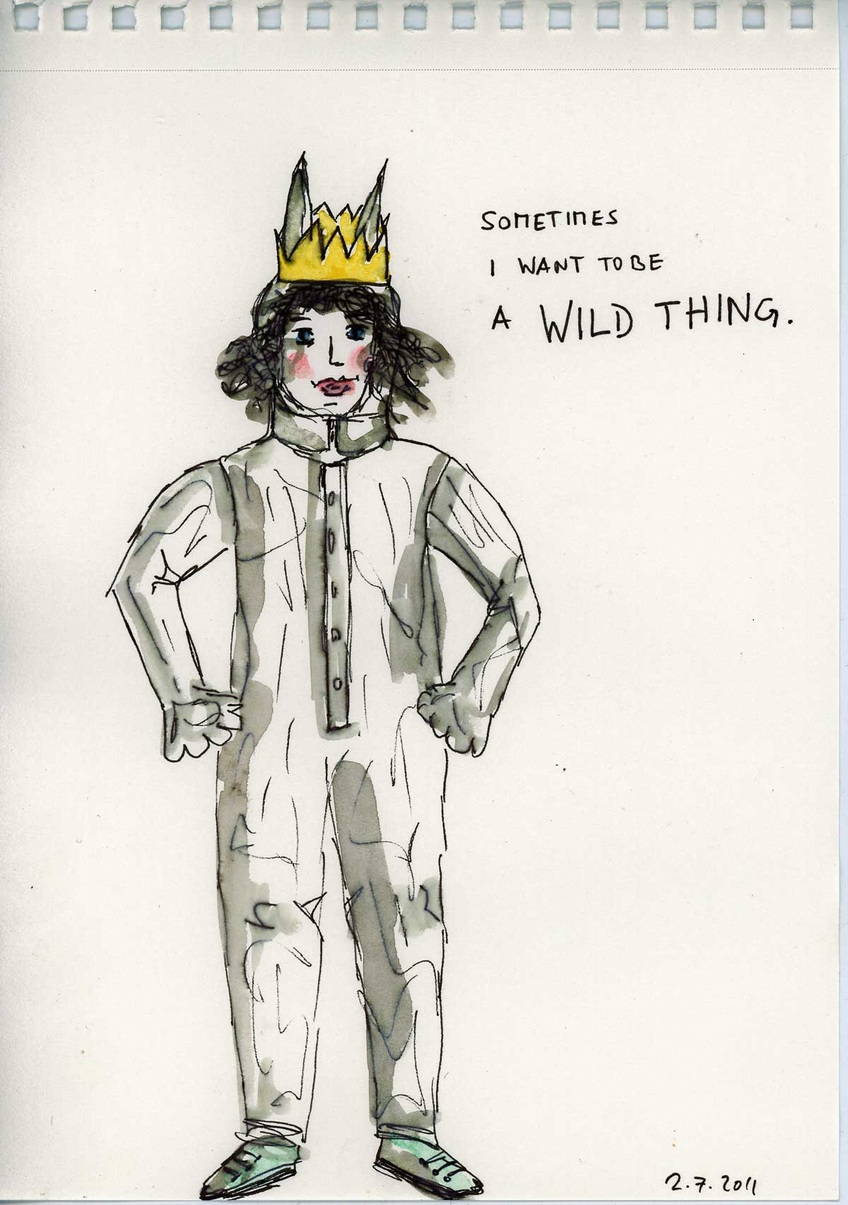 Be Creative #183, I want to be a Wild Thing, © Ines Häufler, 2011