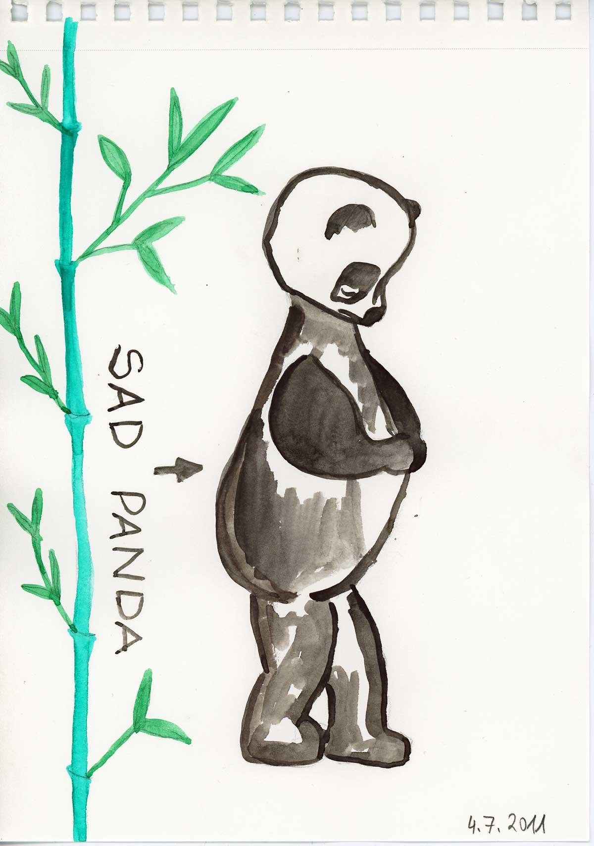 Be Creative #185 - Sad Panda, © Ines häufler, 2011