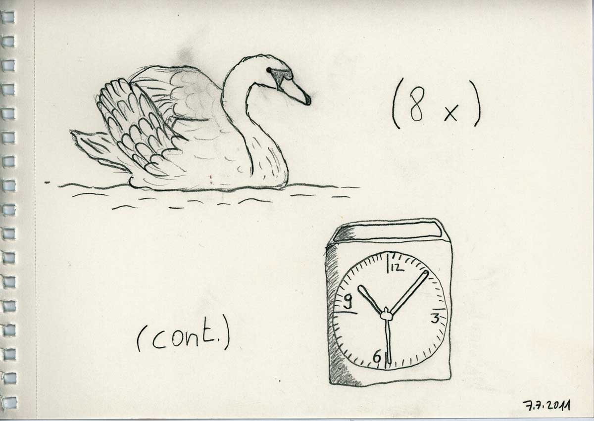 Be Creative #188 - Swans and clocks, © Ines Häufler, 2011