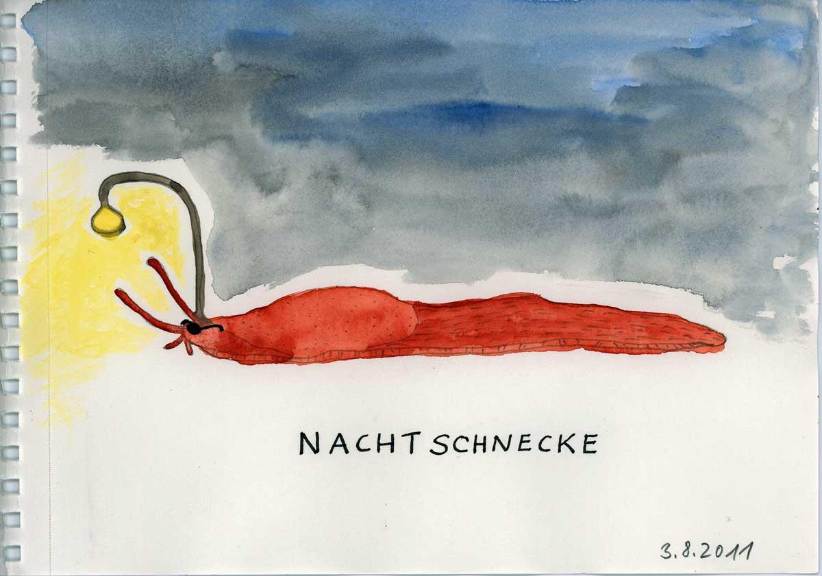 Be Creative #215 - Nachtschnecken, © Ines Häufler, 2011