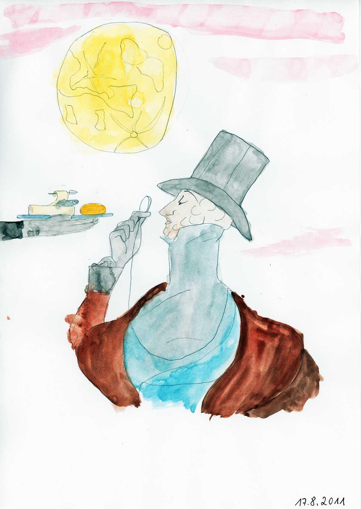 Be Creative #229 - The Sunset, The Moon, The Sardines & Eustace, © Ines Häufler. 2011