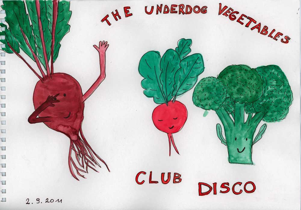 "Be Creative #245 - ""1, 2, Vegetable Disco!"", © Ines Häufler, 2011"