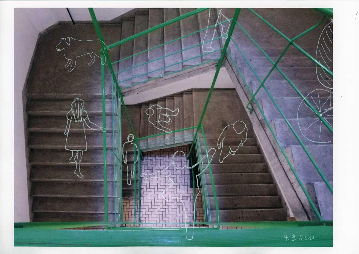 Be Creative #247 - Staircase ghosts, © Ines Häufler, 2011