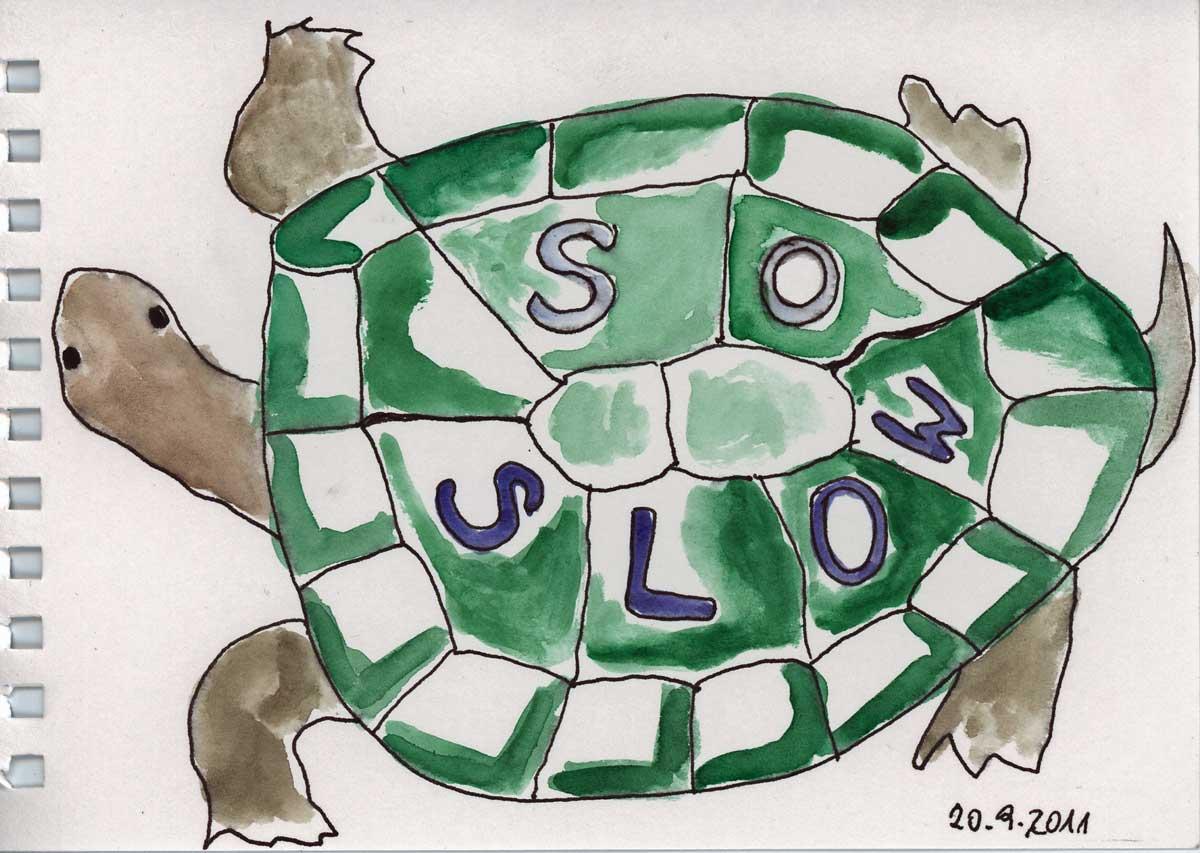 Be Creative #263 - Be wise - go slow!, © Ines Häufler, 2011
