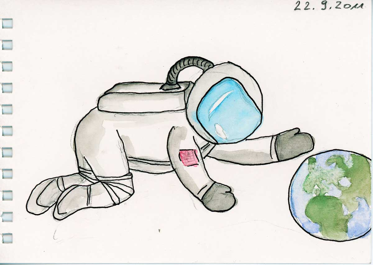 Be Creative #265 - Baby Astronauts, © Ines Häufler, 2011