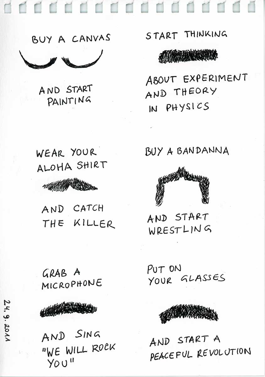 Be Creative #267 - Mustache emergency, © Ines Häufler, 2011