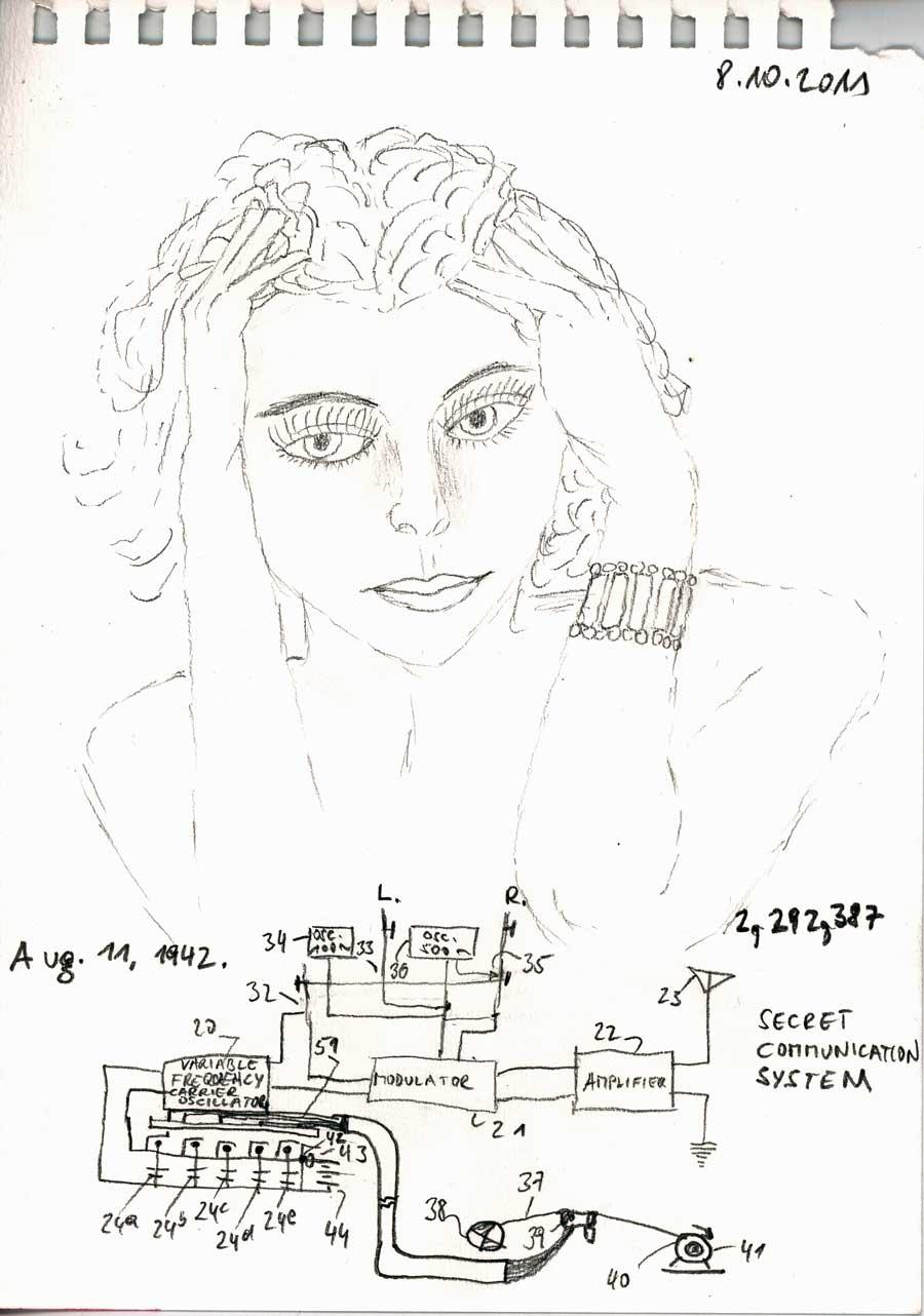 Be Creative #280 - Hedy Lamarr, © Ines Häufler, 2011