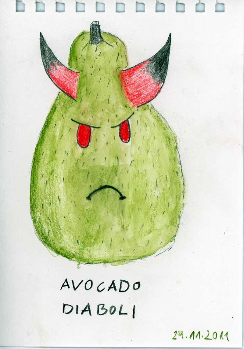 Be Creative #333 - Avocado diaboli, © Ines Häufler, 2011