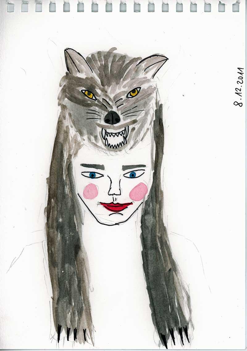 Be Creative #342 - Wolf hat, © Ines Häufler, 2011