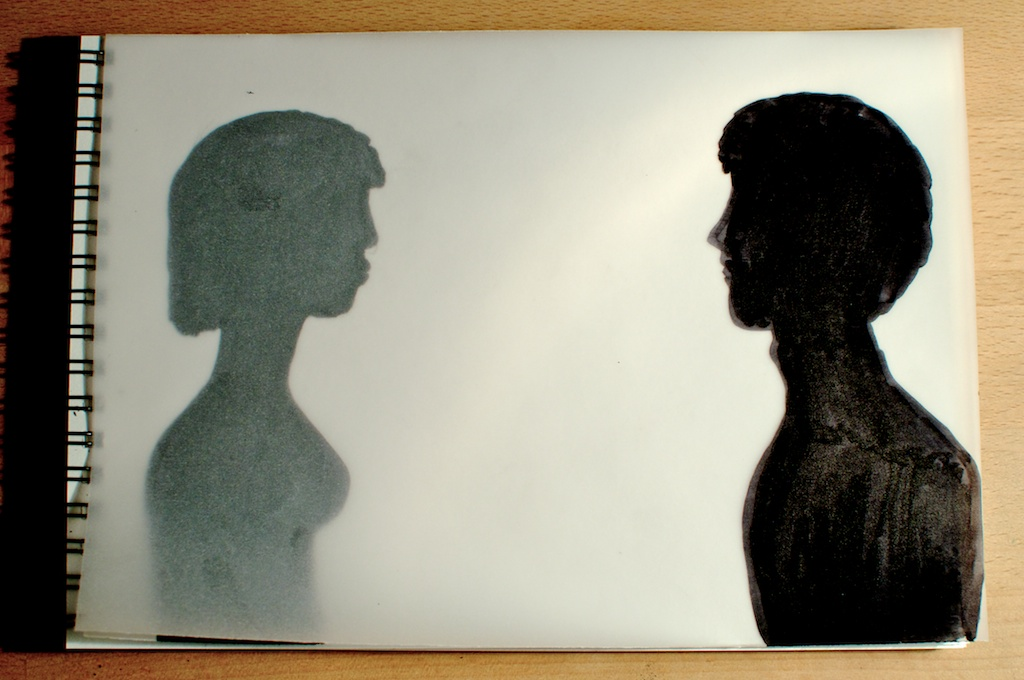 Be Creative #343 - Separated by tracing paper, © Ines Häufler, 2011
