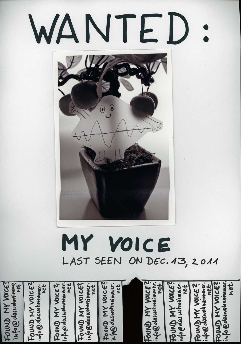 Be Creative #349 - Wanted: My voice. © Ines Häufler, 2011