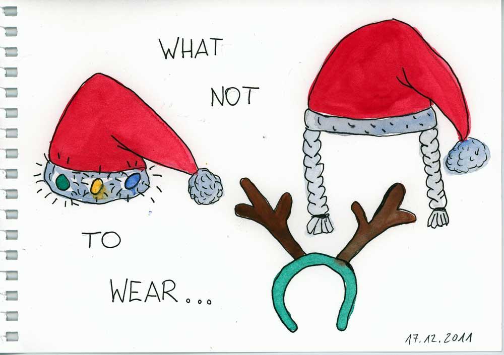 Be Creative #351 - Ugly christmas hats, © Ines Häufler, 2011