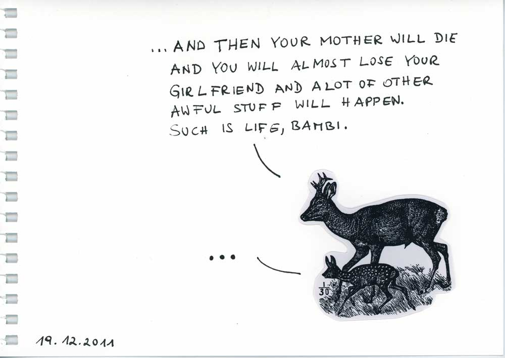 Be Creative #353 - Such is life, Bambi.  © Ines Häufler, 2011