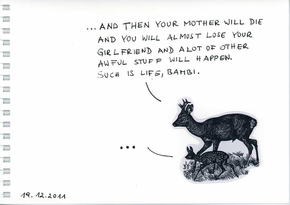 Be Creative #353 - Such is life, Bambi.  © Ines Häufler, 2011