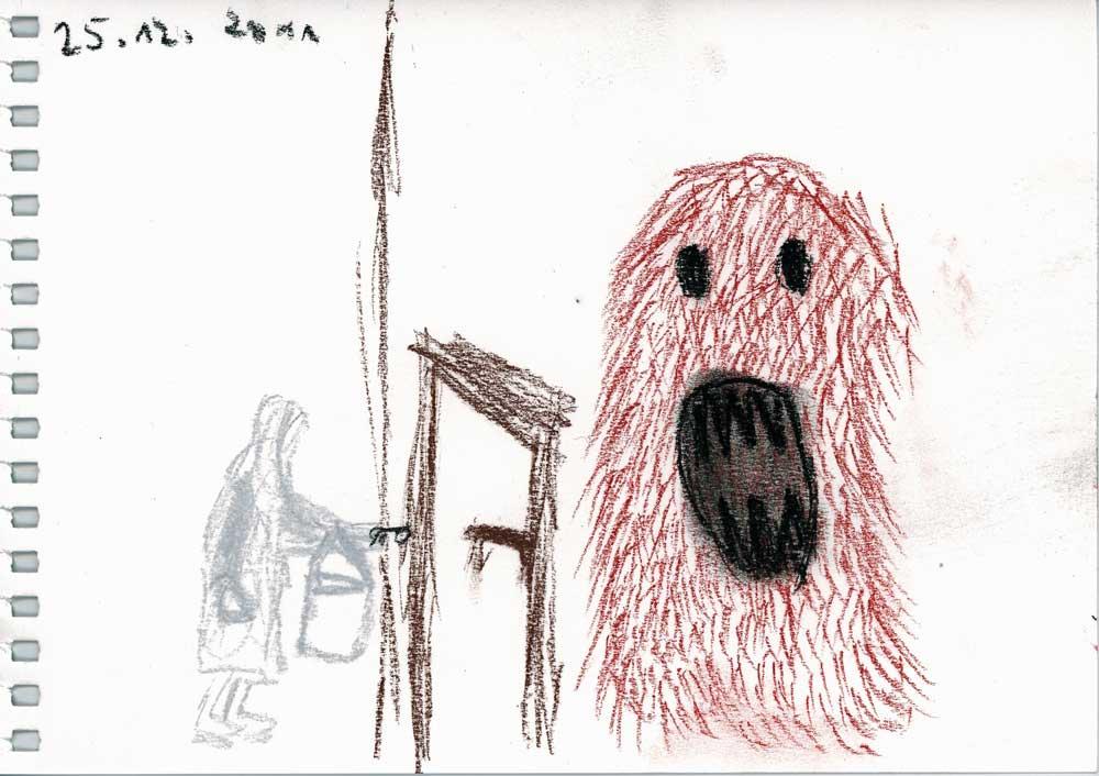 Be Creative #359 - A monster waiting behind your door, © Ines Häufler, 2011