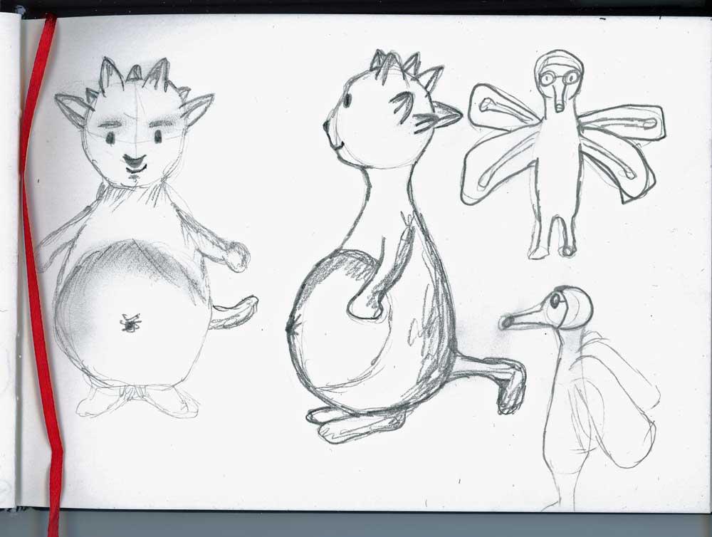 Be Creative - Week #2: Sketching the Dream Eater, © Ines Häufler, 2012