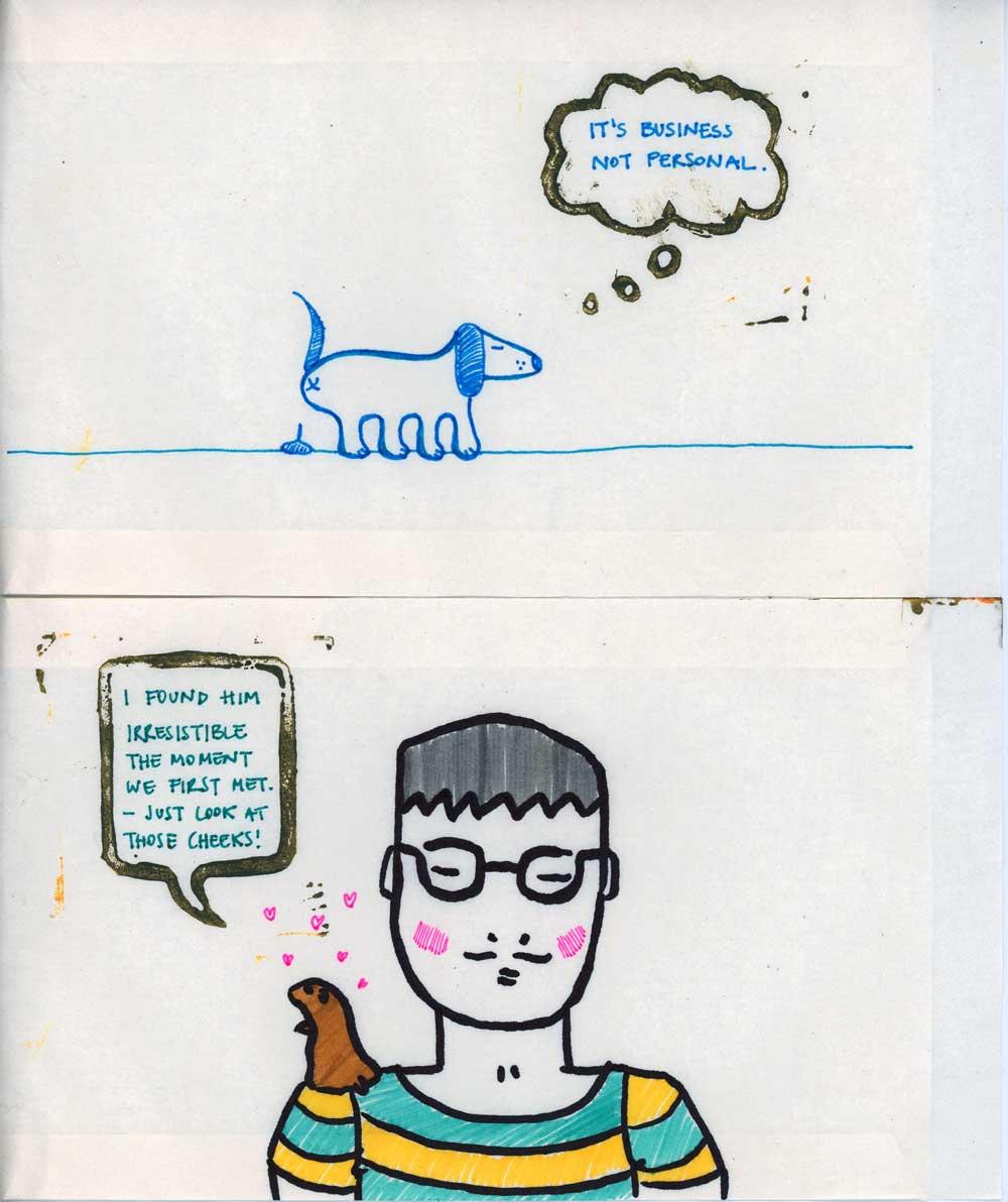 Be Creative - Week #8: Linocut & Drawings, ©Katharina, 2012