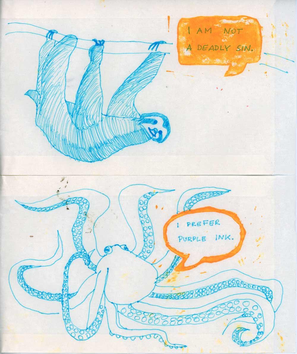 Be Creative - Week #8: Linocut & Drawings, ©Ines Häufler, 2012