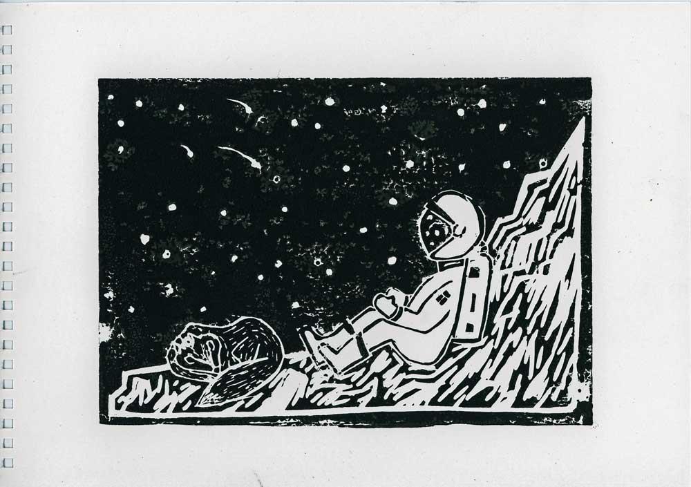 Be Creative - Week #14: The Astronaut And The Fox, © Ines Häufler, 2012