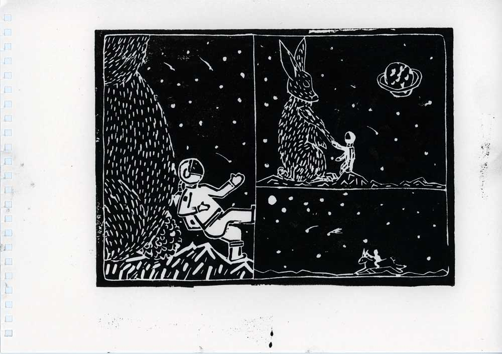 Be Creative - Week #14: The Astronaut And The Space Rabbit, © Ines Häufler, 2012
