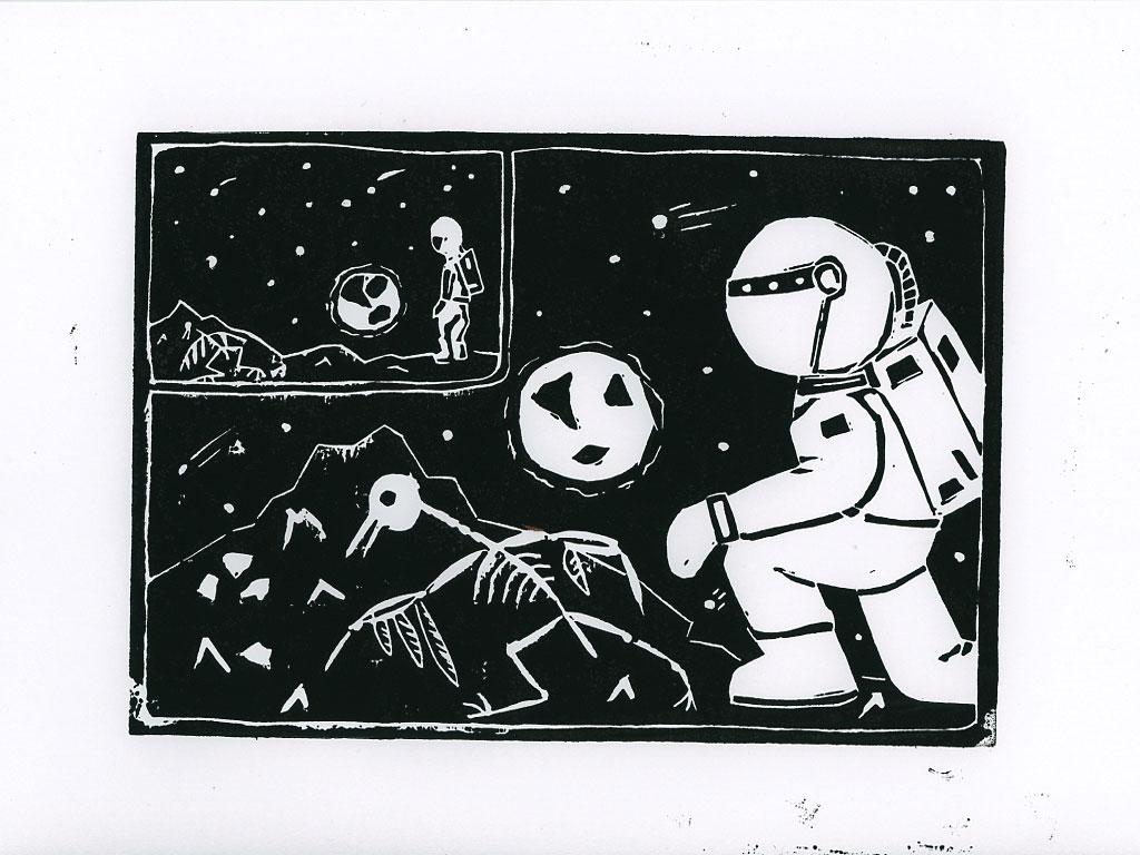 Be Creative: The Astronaut's Bird, © Ines Häufler, 2012