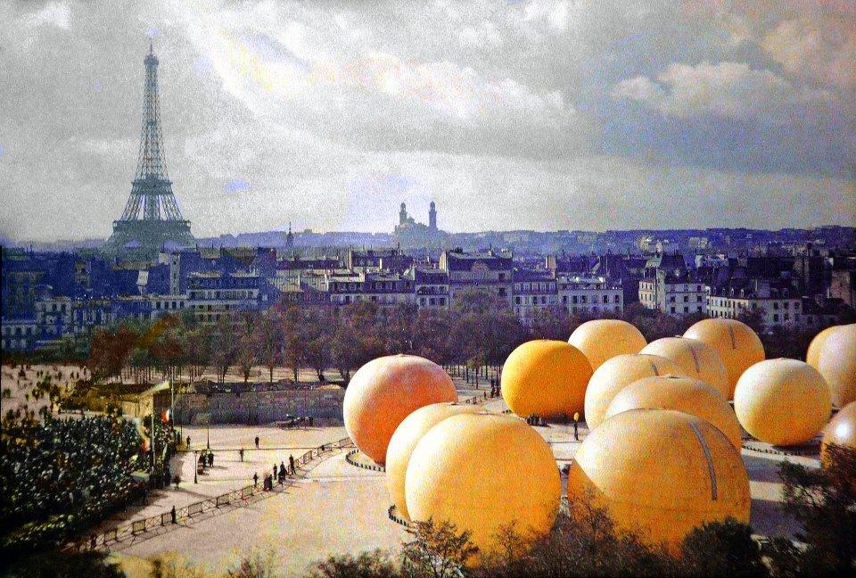 Autochromaufnahme von Paris