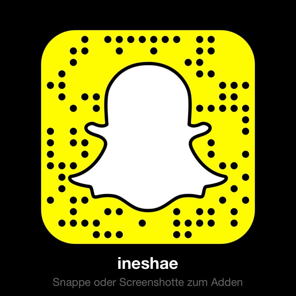 Hallo Snapchat! Das ist mein Snapcode. @ineshae