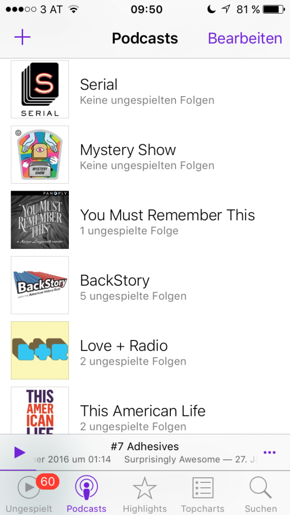 Meine Podcast Playlist