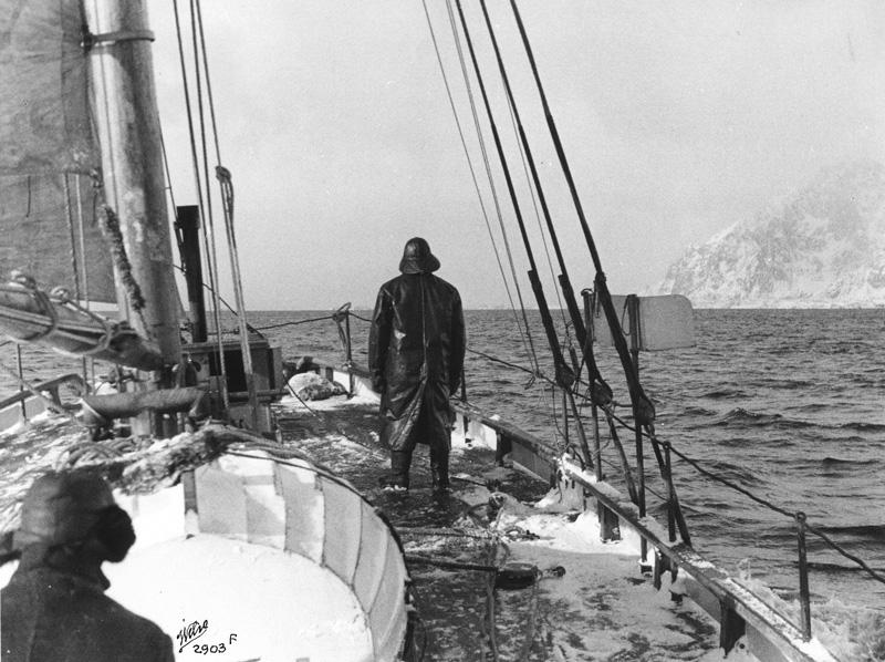"""Das Boot ist wahrscheinlich die MS 38 """"Bischof Hvoslef"""" (Foto: Redningsselskapets Museum)"""
